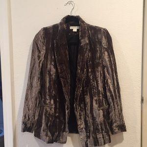 H&M Grey Velvet Blazer